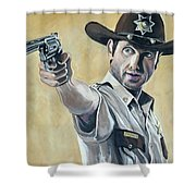 Rick Grimes Shower Curtain
