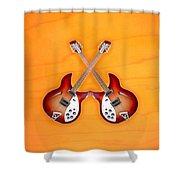 rickenbacker 12-S guitar Shower Curtain