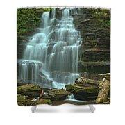 Ricketts Glen Cascading Falls Shower Curtain