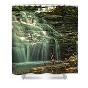 Ricketts Glen Shawnee Waterfall Shower Curtain