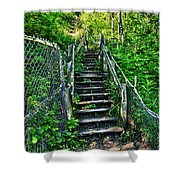 Rickety Stairs Shower Curtain