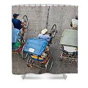 Rickshaw Driver - Bangkok Shower Curtain