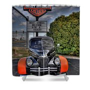 Ride A Harley Shower Curtain