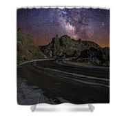 Ride Across The Badlands Shower Curtain
