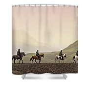 Ride Into My Mind Shower Curtain