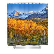 Ride Into The Color Shower Curtain
