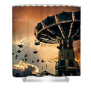 Ride The Clouds Shower Curtain