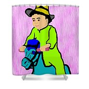 Ride The Horsey Shower Curtain