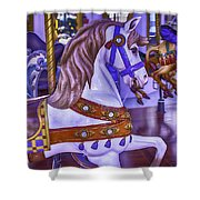 Ride The White Horse Shower Curtain
