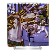 Ride The Wild Carrousel Horses Shower Curtain
