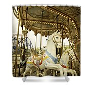 Ride The Wild Pony Shower Curtain