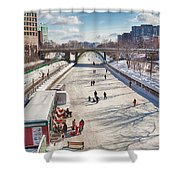 Rideau Skateway Shower Curtain