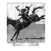 Riding A Bucking Bronco Shower Curtain