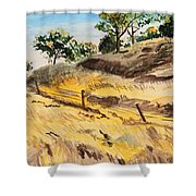 Riding By Back Road  Shower Curtain