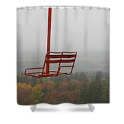 Riding Fall Colors Shower Curtain