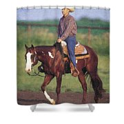 Riding Fence Shower Curtain