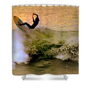Riding High Shower Curtain by Karen Wiles