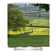 Riding On Chosen Hill Shower Curtain