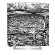 Riding The Crest Of The Wave Shower Curtain