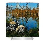 Riding The Mississippi Delta Shower Curtain