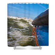 Riding The Storm. Shower Curtain