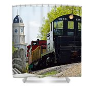 Riding The Train Shower Curtain