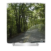 Riding The Woods Of Alabama Shower Curtain