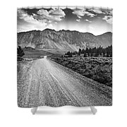 Riding To The Mountains Shower Curtain