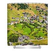 Riederalp Switzerland With Golf Course Shower Curtain