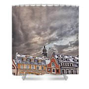 Riga Architecture Shower Curtain