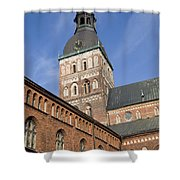 Riga Cathedral Shower Curtain
