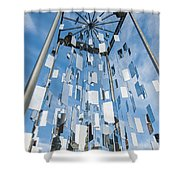 Riga Monument To Christmas Trees Shower Curtain