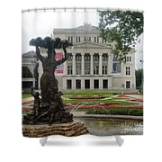 Riga National Opera House Shower Curtain