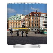 Riga Old Town 3 Shower Curtain