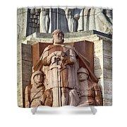 Riga Statue Shower Curtain