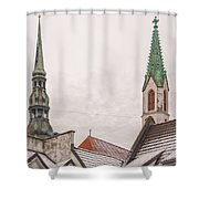 Rigan Steeples Shower Curtain