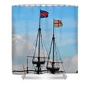 Rigging And Flags Shower Curtain