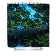 Right Side Of Clearwater Falls Shower Curtain