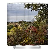Right To Go Left Shower Curtain