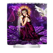 Righteous Warrior Bride Shower Curtain