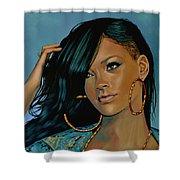 Rihanna Painting Shower Curtain