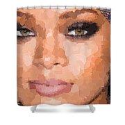 Rihanna Portrait Shower Curtain