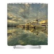 Rijeka Yachts  Shower Curtain