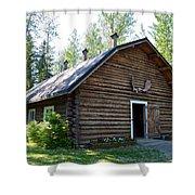 Rika's Barn In Big Delta Historical Park-ak  Shower Curtain