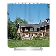 Rika's Roadhouse In Big Delta State Historical Park-ak Shower Curtain