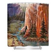 Rim Canyon Ride Shower Curtain