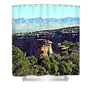 Rim Rock Scenic Lookout Shower Curtain