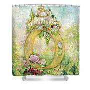 Ring And Rose Shower Curtain