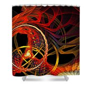Ring Of Fire Shower Curtain by Andee Design