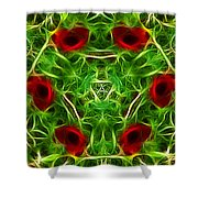 Ring Of Poppies Shower Curtain